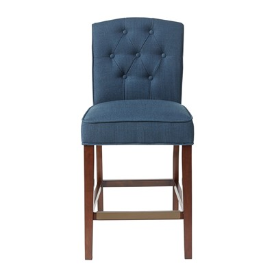 Madison Park Marian Tufted Counter Stool in Navy MP104-0055