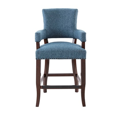 Madison Park Dawson Arm 26'' Counter Stool in Blue MP104-0045